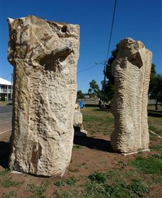 Fossilised Forrest Sculptures - Accommodation Coffs Harbour