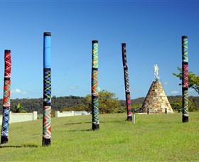 Maclean Tartan Power Poles - Accommodation Coffs Harbour