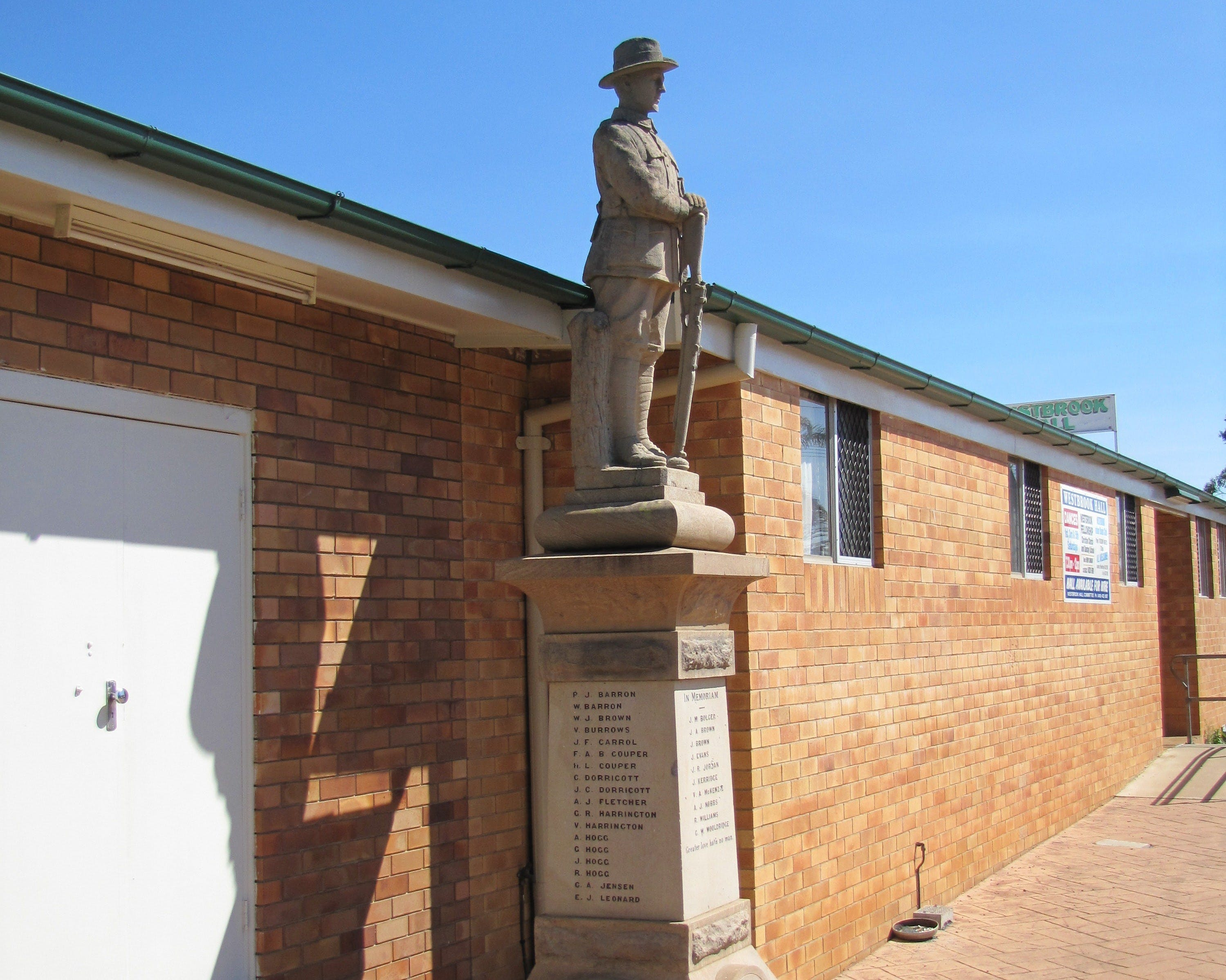 Westbrook War Memorial - Accommodation Coffs Harbour