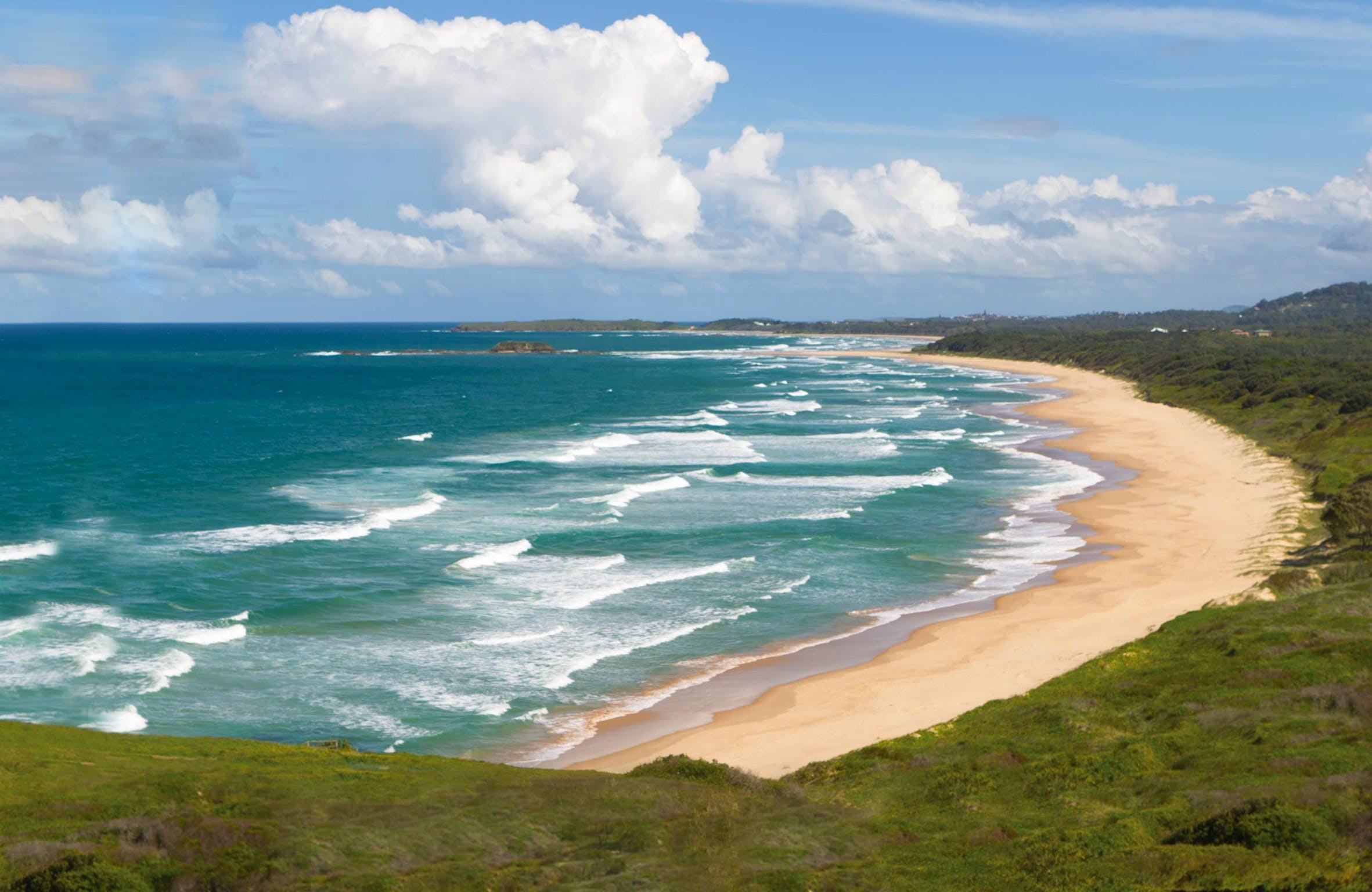 Woolgoolga Beach and Headland - Accommodation Coffs Harbour