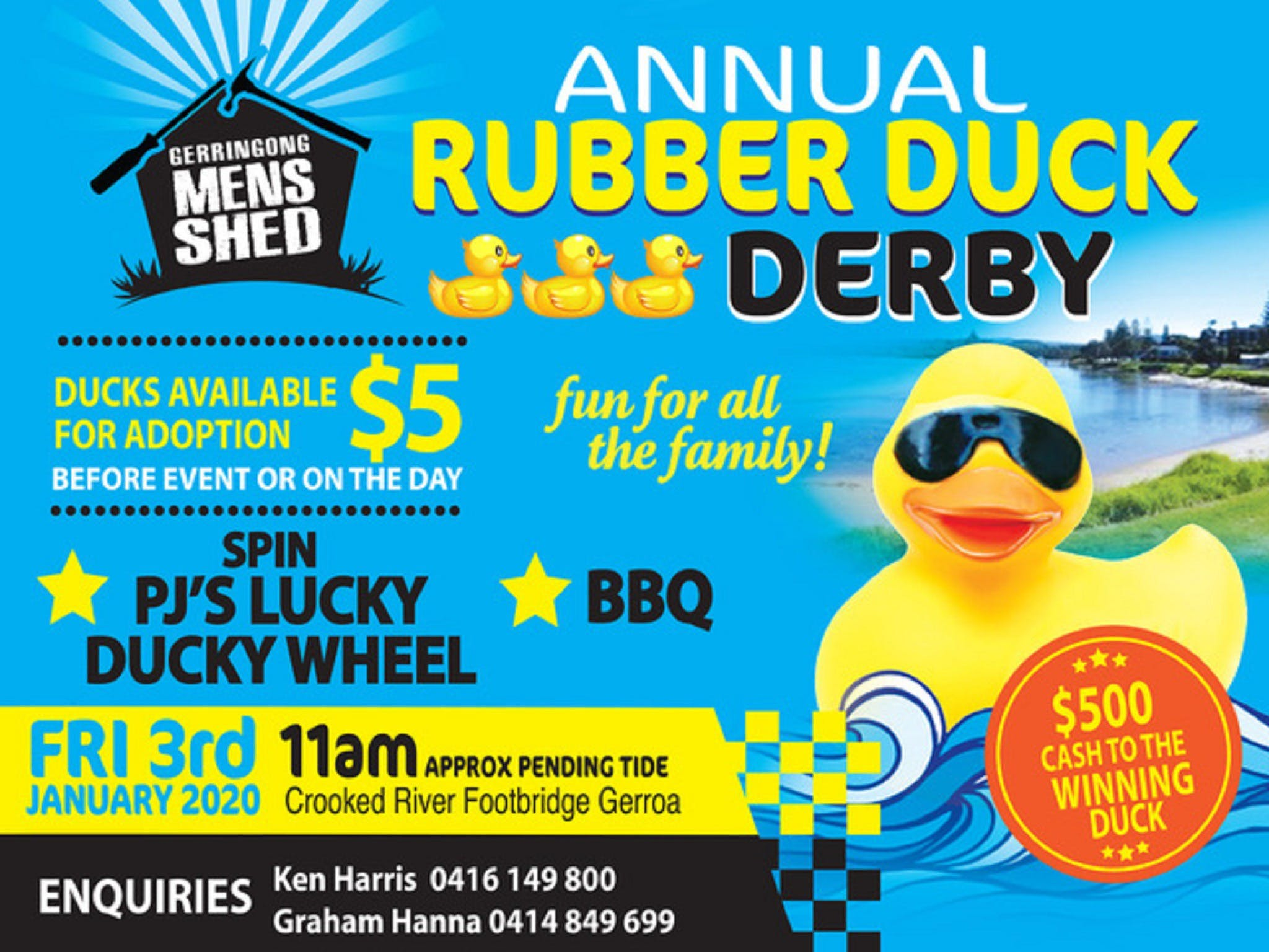 Gerringong Mens Shed Annual Duck Derby - Accommodation Coffs Harbour